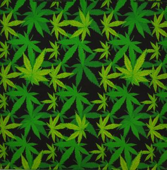 Bandana - All over Hemp Leaves
