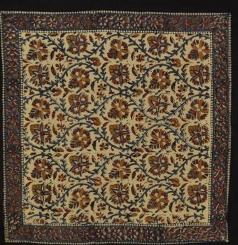 Bandana - Earthy Blue Red Sanganer