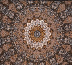 Brown Star Mandala Full Size 81x96