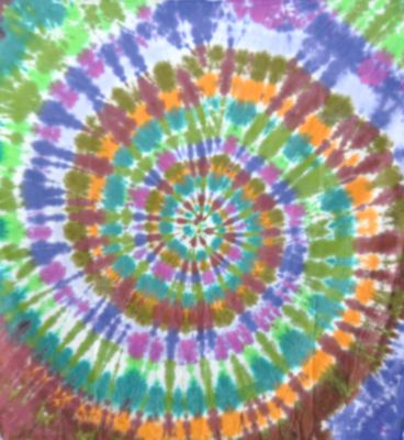Earthy Extreme Spiral Tapestry