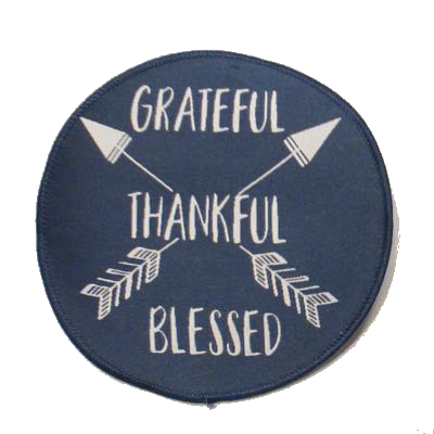 Grateful Thankful Blessed Patch