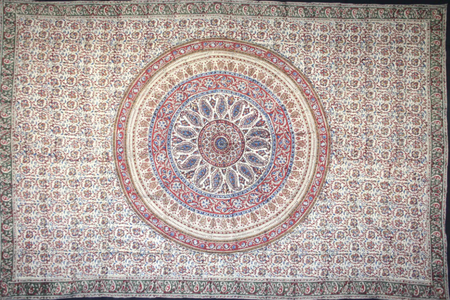 Warm Kalamkari Circle Single Size