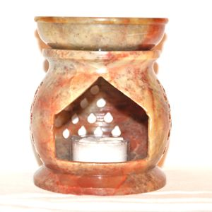 Oil Burner - Large Soapstone - Click Image to Close