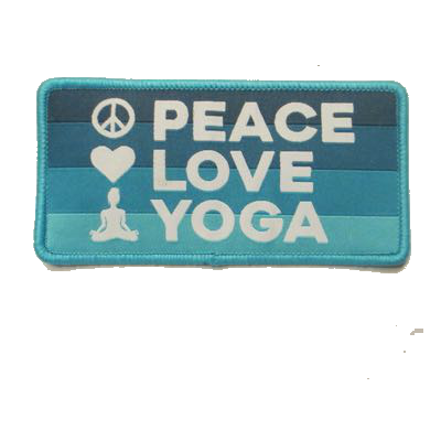 Peace Love Yoga Patch