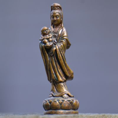 Quan Yin with Baby Statue