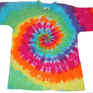 Short Sleeve Rainbow Spiral