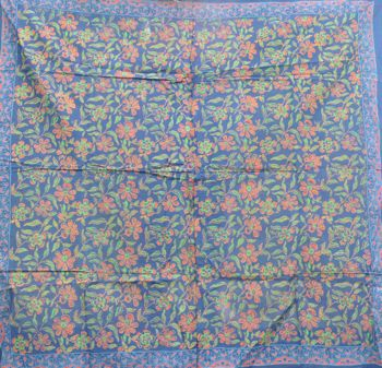 Floral MINI Tapestry Blue