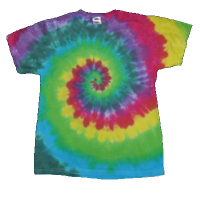 Short Sleeve Rainbow Spiral Minus Orange
