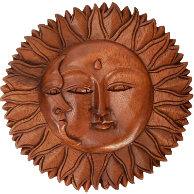 Wooden Sun from Indonesia