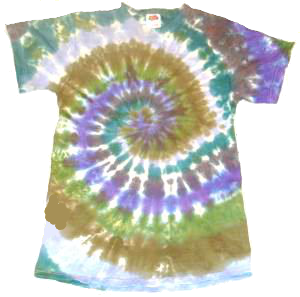 Short Sleeve Earthy Spiral