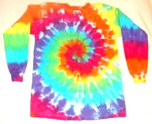 Long Sleeve Rainbow Spiral