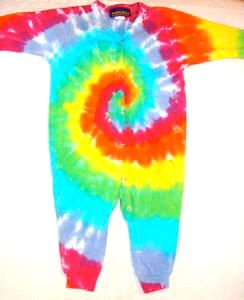 Long Sleeve Unionsuit Rainbow Spiral