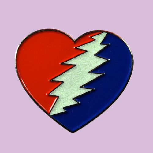 Heart Steal Your Face Pin