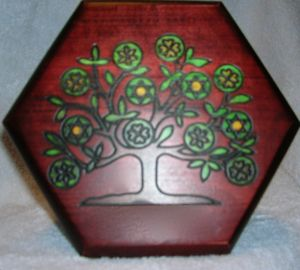 Tree of Life Hexagon Box